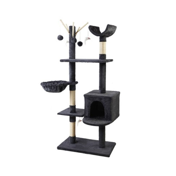 Cat Tree 140Cm Trees Scratching Post Scratcher Tower Condo House