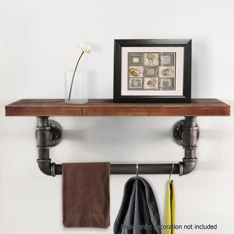 Rustic Industrial DIY Floating Pipe Shelf 1