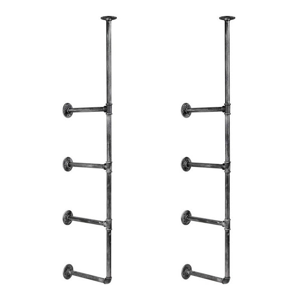 141cm Wall Mount Pipe Bracket Shelf