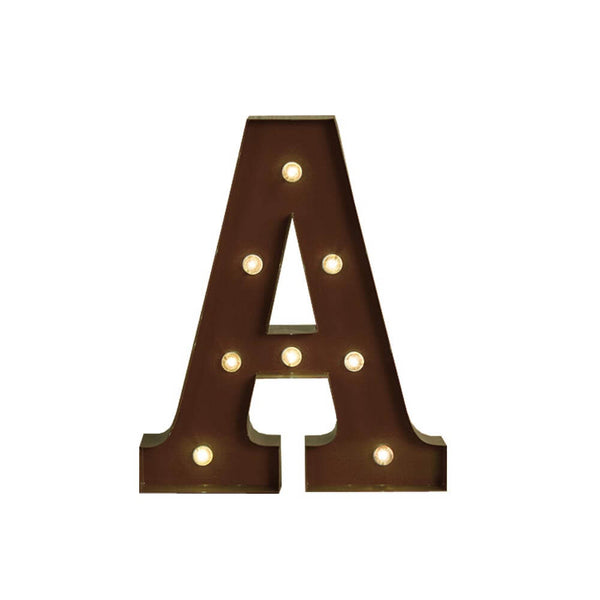 LED Metal Letter Lights Free Standing Hanging Marquee Event Party D?cor Letter A