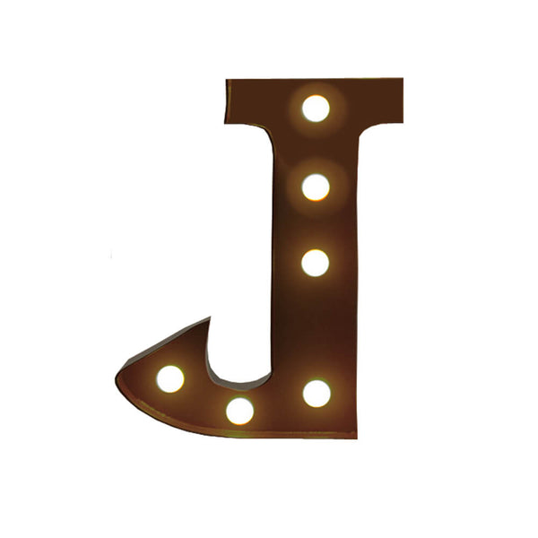 LED Metal Letter Lights Free Standing Hanging Marquee Event Party D?cor Letter J
