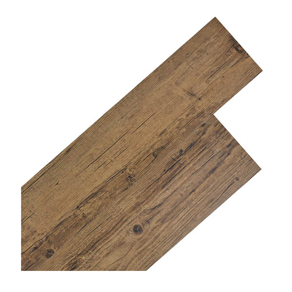 Self Adhesive Pvc Flooring Planks 5 M Walnut Brown