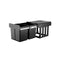 15L Twin Pull Out Kitchen Waste Basket Black Set of 2