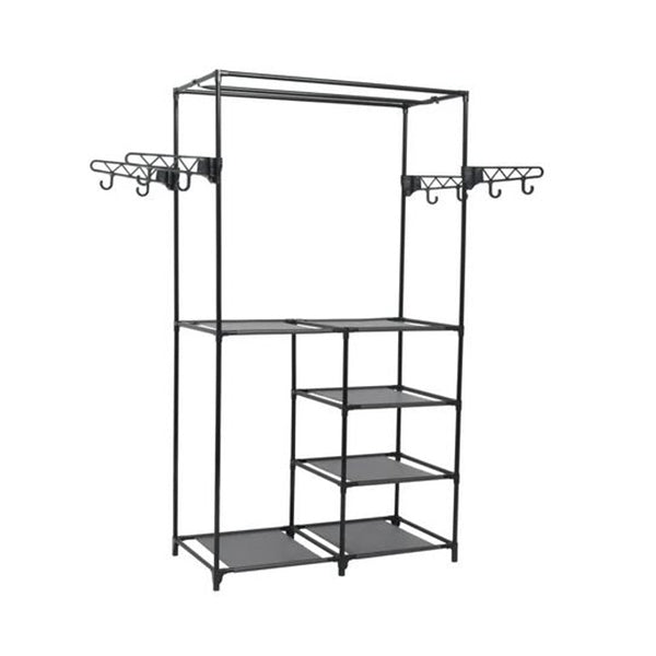 Clothes Rack Steel And Non Woven Fabric 87X44X158 Cm Black