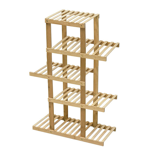 5 Tiers Premium Bamboo Wooden Plant Stand In/Outdoor Garden Planter Flower Shelf