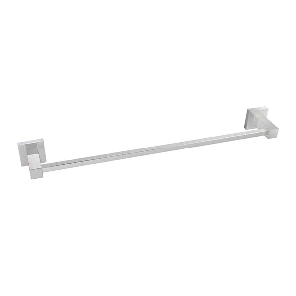Square Single Towel Rail 800 Mm Stainless Steel Wall Mounted