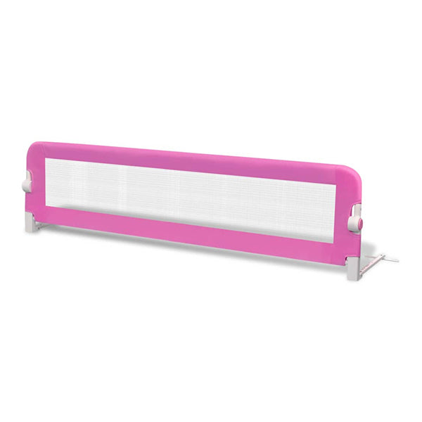 Toddler Safety Bed Rail 2 Pcs Pink 150X42 Cm