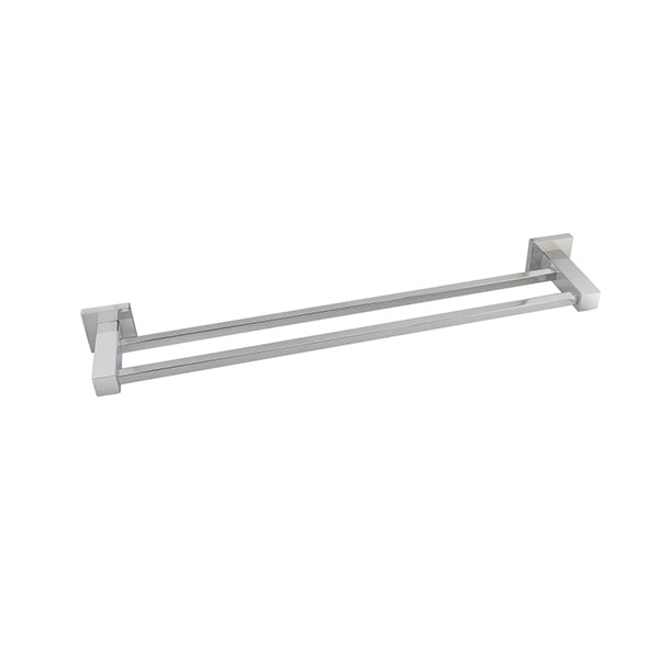 Square Double Towel Rail 800 Mm Stainless Steel Wall Mounted