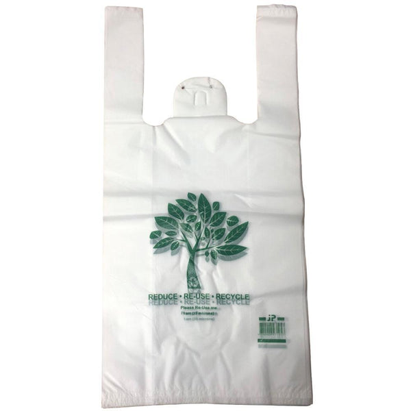 Recyclable Plastic Shopping Bags Singlet Eco Friendly Grocery Bag