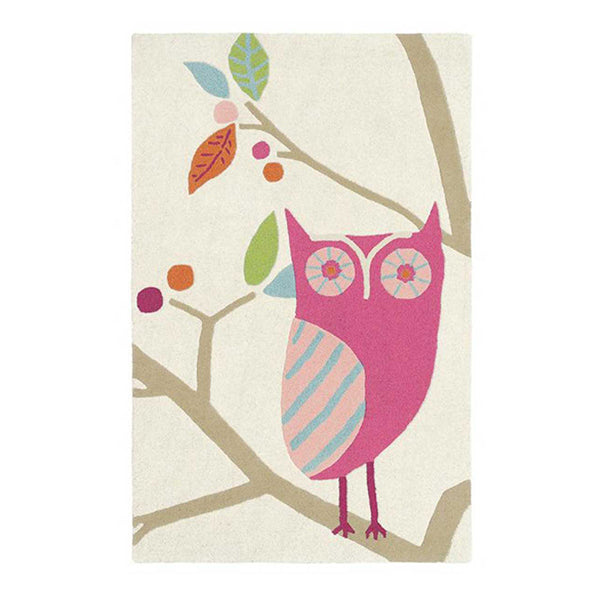 What A Hoot Candy Modern Pure New Wool Rug 140X90 Cm