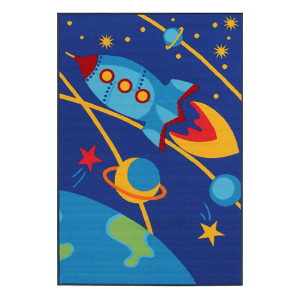 Little Circus Outer Space Power Loomed Kids Rug 150X100 Cm