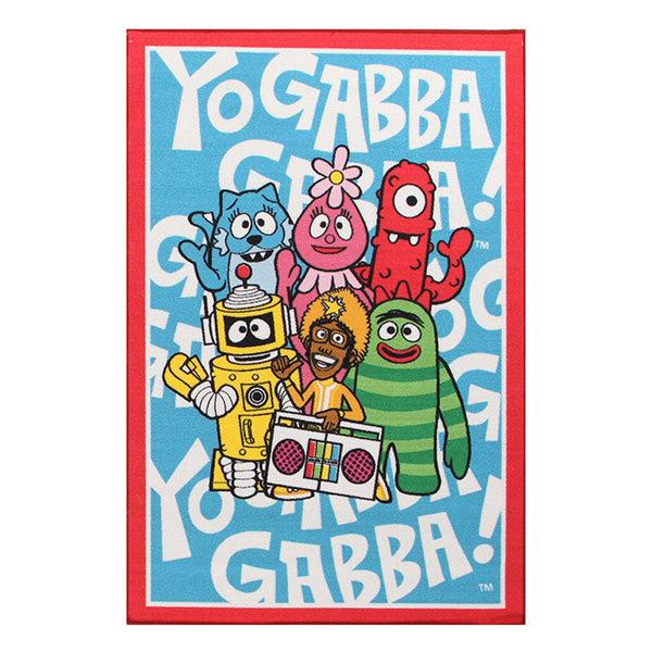 Little Circus Yo Gabba Blue Nylon Machine Made Kids Rug 150X100 Cm
