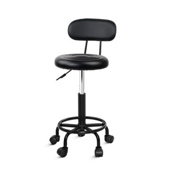 Salon Stool Swivel Barber Chair Hairdressing Backrest Hydraulic Height