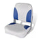 Boat Seat Foldable Backrest With Blue White Pillow