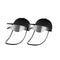 2X Outdoor Hat Anti Fog Dust Saliva Cap Face Shield Cover Kids Black