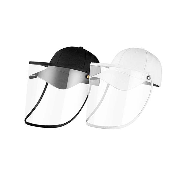 2X Outdoor Hat Anti Fog Dust Saliva Cap Face Shield Adult Black White