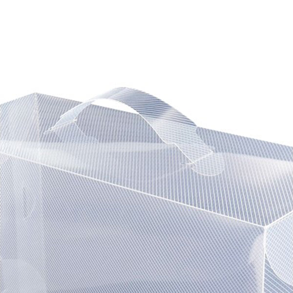 20x Clear Foldable Portable Shoe Boxes