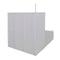 Shower Bath Screen Wall L Shape 4 Panels Foldable