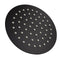 8 Inch Round Black Rainfall Shower Head 300 Mm Wall Mounted Shower Arm
