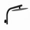 300 Mm Round Black Rainfall Shower Head Gooseneck Shower Arm Set Wall