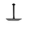 200 Mm 8 Inch Slim Square Black Rainfall Shower Head Ceiling Arm Set
