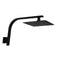 200 Mm 8 Inch Slim Black Rainfall Shower Head Wall Goose Neck Arm Set