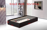 PU Leather Single Bed Ensemble Frame