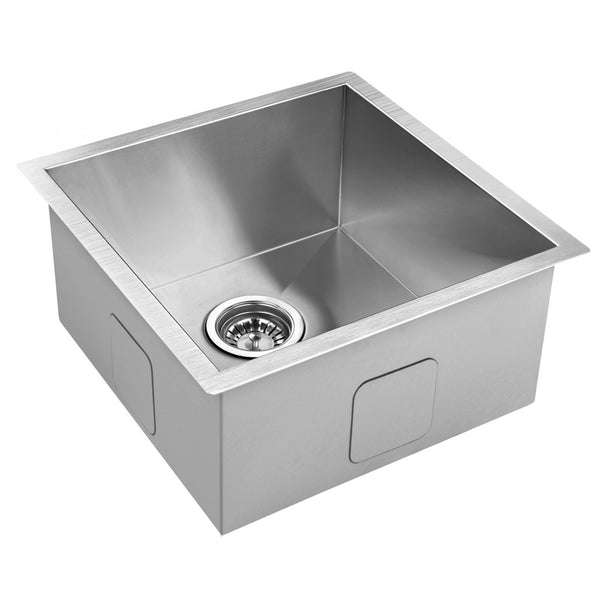 Stainless Steel Kitchen/Laundry Sink w/ Strainer Waste 440 x 440 mm