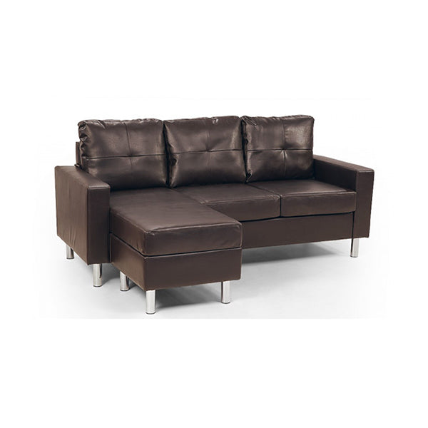 Corner Sofa Couch With Chaise Brown