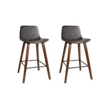 PU Leather Circular Kitchen Bar Stools