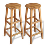 2x Fabric Bar Stools