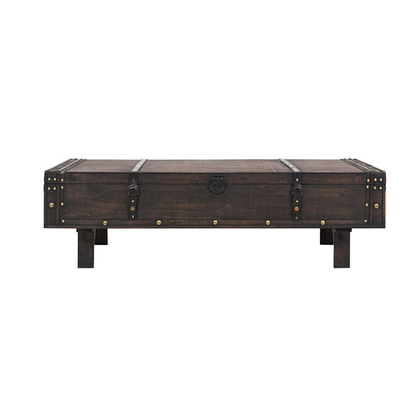 Coffee Table Solid Wood Vintage Style 120 X 55 X 35 Cm