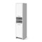 185 Cm Bathroom Tallboy Toilet Storage Cabinet Adjustable Shelf White
