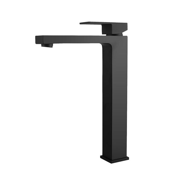 Solid Brass Square Tall Basin Mixer Tap Vanity Tap Bench Top