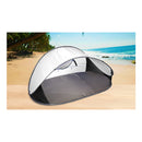 4 Person Pop Up Camping Tent Beach Shelter Sun Shade Shelter Grey