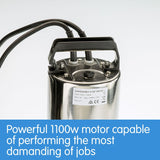 1100w Submersible Dirty Water Pump