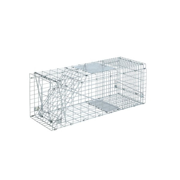 Humane Animal Trap Cage Silver - 94 x 34 x 36cm