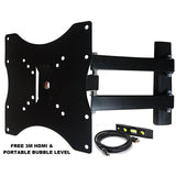 "15-37"" Plasma LED LCD Screen TV Mount w/ 180 Degree Swivel"