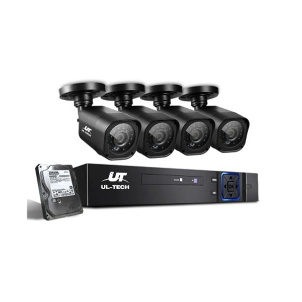 Cctv 2Tb 4Ch Dvr 1080P 4 Camera Sets