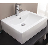 Ceramic Rectangular Above Countertop Basin for Vanity