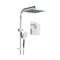 8 Inch Rain Shower Head Set Square Dual Mixer Hand Held High Pressure