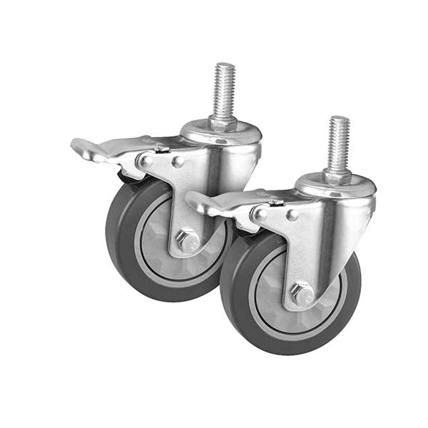Soga 2 X 4 In Heavy Duty Polyurethane Swivel Castor Brake Wheels