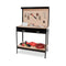 2 Layered Workbench Garage Storage Table Tool Shop Shelf