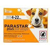 Parastar Plus Flea and Tick Control for Dogs 3 pack 4-22 lbs, Orange