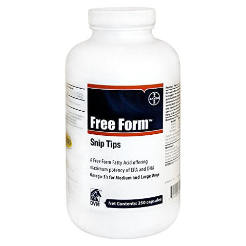 Free Form Snip Tip Nutritional Supplements for Dogs, Medium/Large 250 Ct