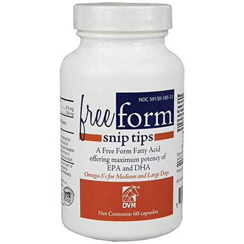 DVM PHARMACEUTICALS 60 Count Free Form Snip Tip Nutritional Supplements for Dog, Medium/Large