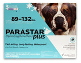 Parastar Plus Flea and Tick Control for Dogs 3 pack 89-132 lbs, Blue