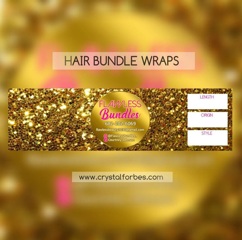 HAIR BUNDLE WRAPS - MATTE MATERIAL