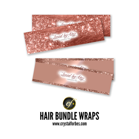 Hair Bundle Wraps- Full Adhesive Stickers
