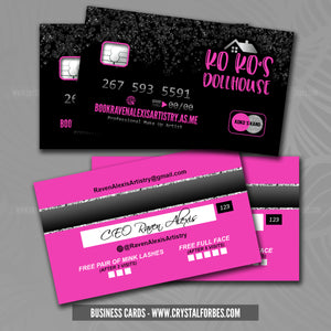 Business Cards - Credit Card Style